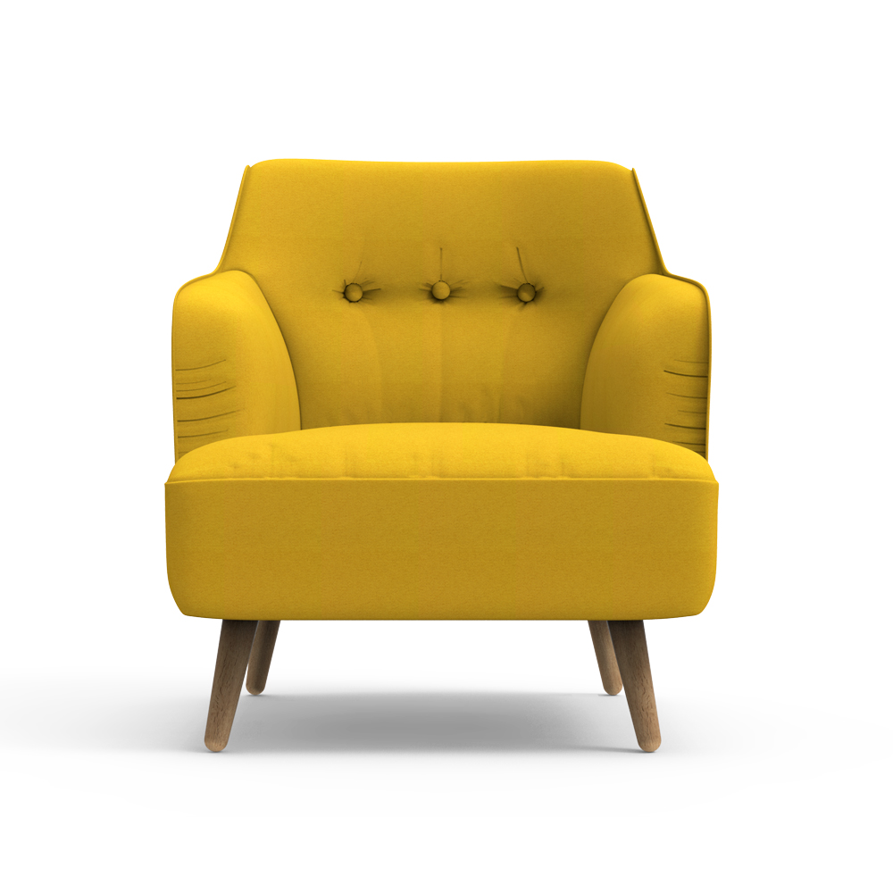 Haven Arm Chair-Yellow