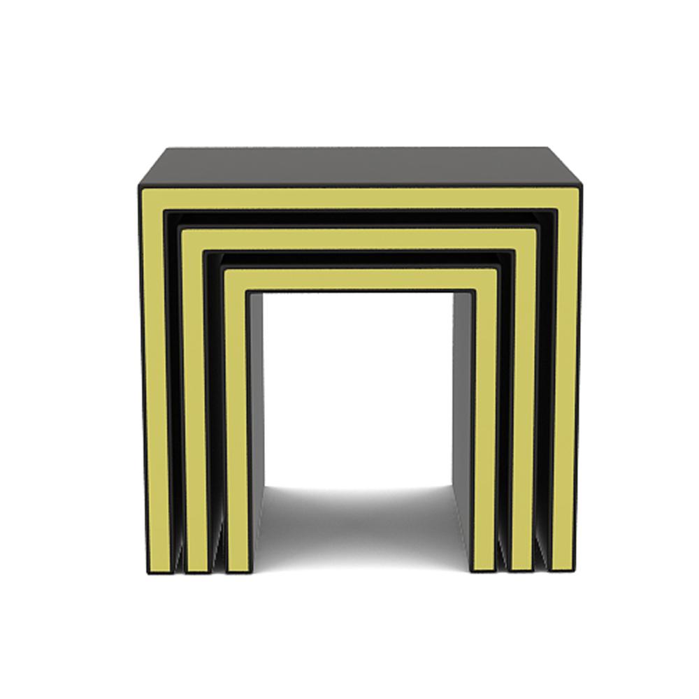 Gold band nested stool