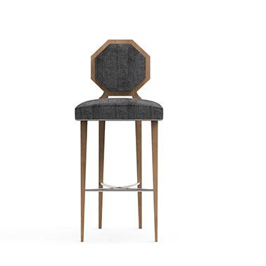MOGUL bar stool - Grey