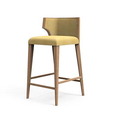Hourglass bar stool - Beige