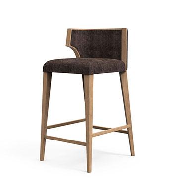 Hourglass bar stool - Black