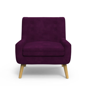 Dashen Arm Chair - Violet