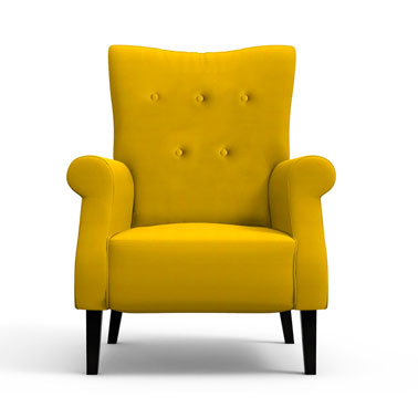 Canary Yellow High Back Chair