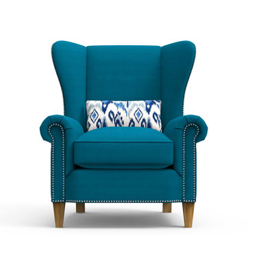 KNIGHTS Arm Chair - Blue