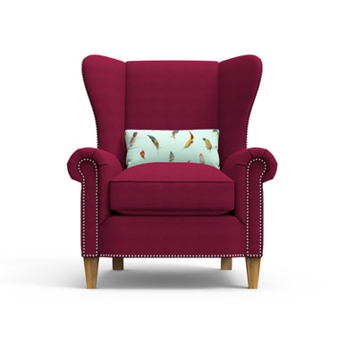 KNIGHTS Arm Chair - Maroon