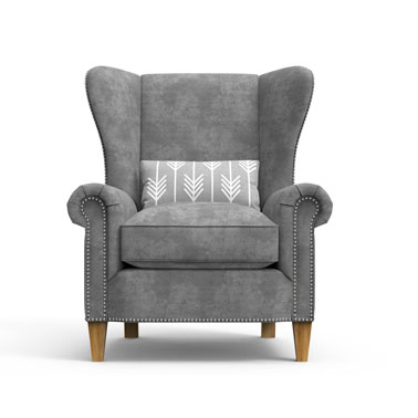 KNIGHTS Arm Chair - Grey