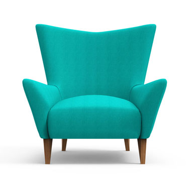 Swain Club Chair- Blue