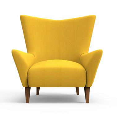 Swain Club Chair-Yellow
