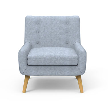 Dashen Armchair - Coin Grey