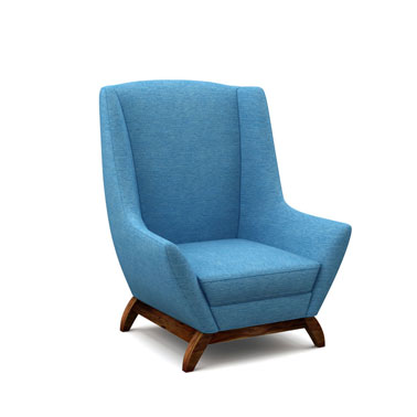 JENSEN CHAIR - TEAL BLUE