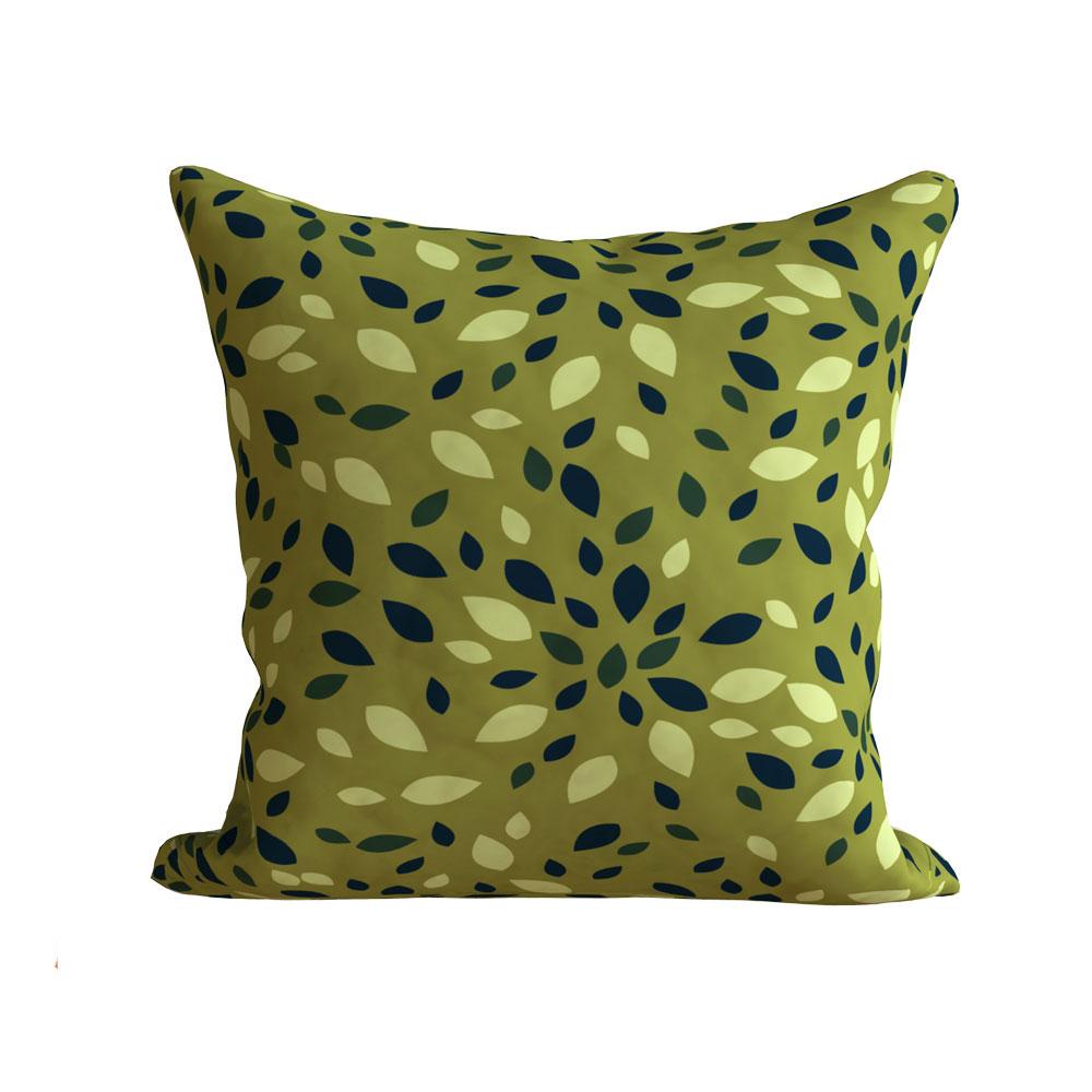 Designer 16 x 16 inch Zoya Leaf Green Cushion Cover-Set of 5