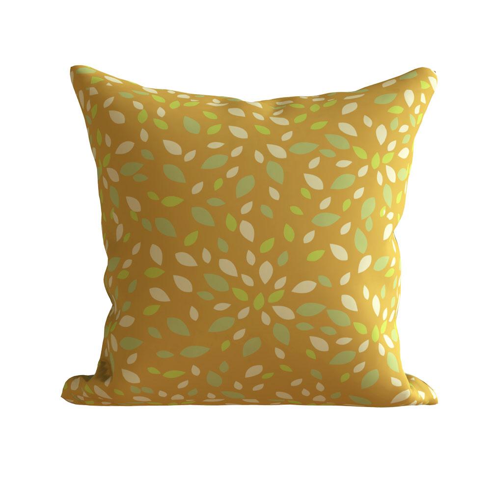 Designer 16 x 16 inch Zoya Gold Beige Cushion Cover - Set of 5