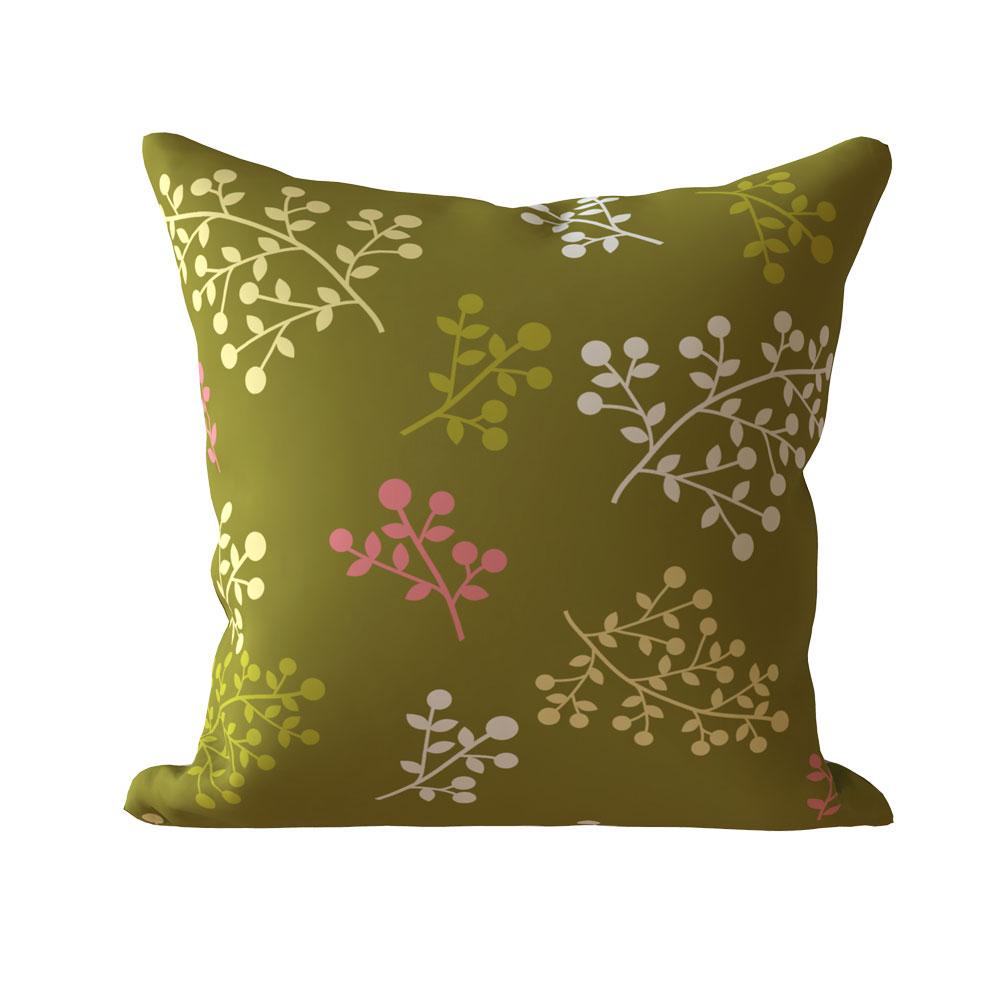 Megan Olive Green 16 x 16 inch Designer Cushion Cover-Set of 5