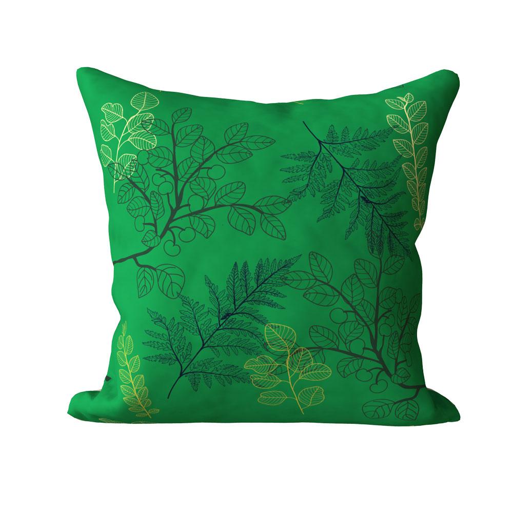 Kiya Contemporary Green Cushion Cover 16 x 16 inch-Set of 5