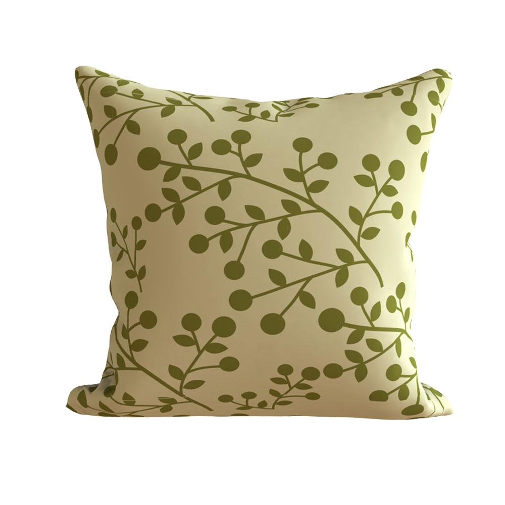 Olive Green Modern 16 x 16 inch Vini Cushion Cover - Set of 5