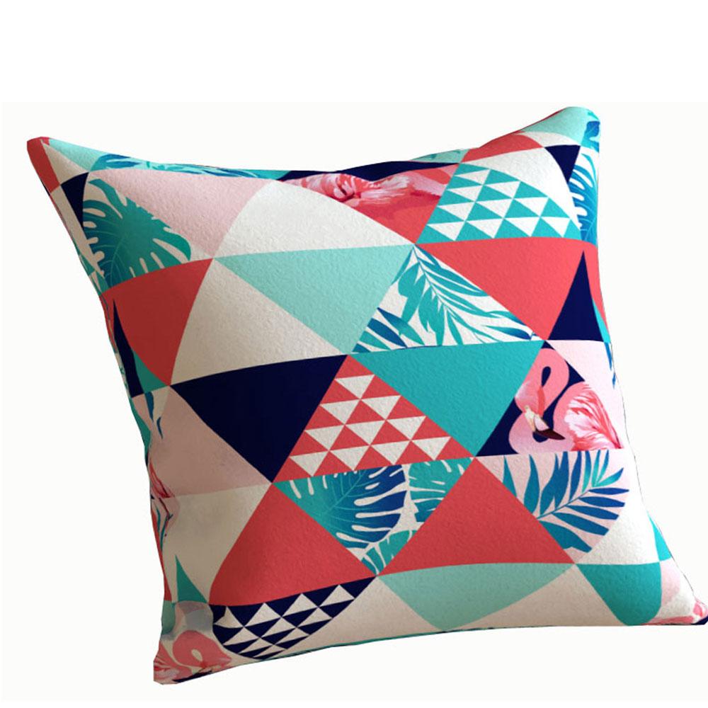 Designer Tri Tropica 16 x 16 inch White Cushion Cover-Set of 5