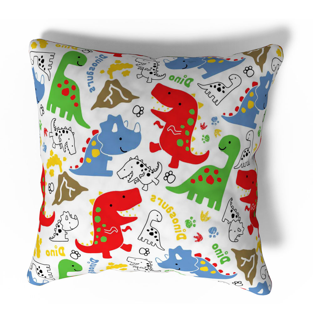 Modern Dino 16 x 16 inch Multi Color Cushion Cover-Set of 5