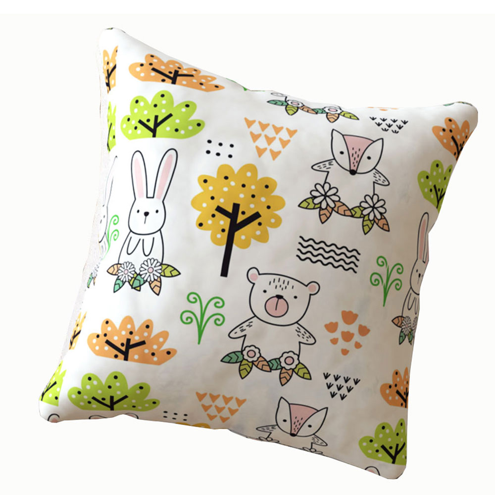 Rabbit 16 x 16 inch Multi Color Cushion Cover-Set of 5