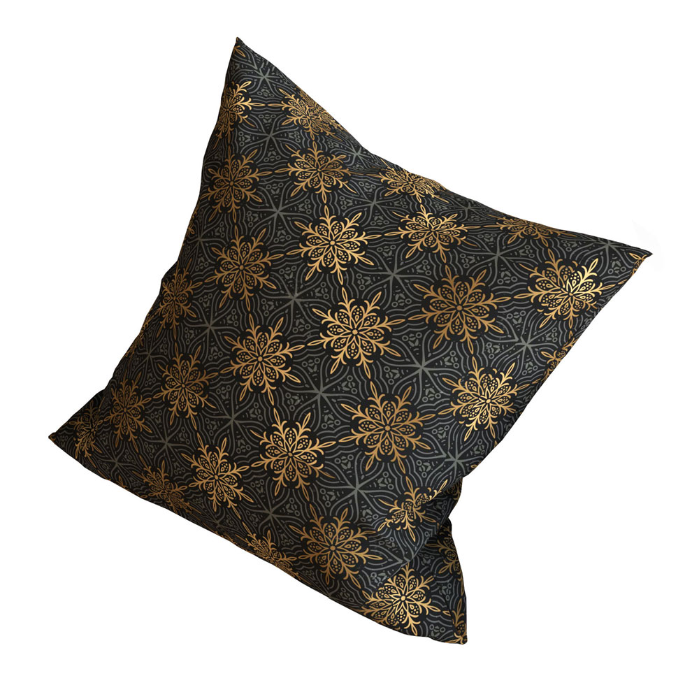 Star Burst 16 x 16 inch Charcoal Cushion Cover-Set of 5