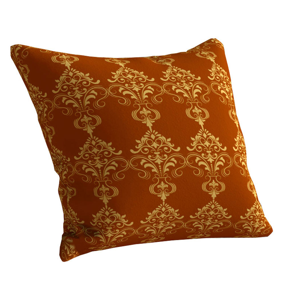Classic Designer 16 x 16 inch Damask Gold Cushion Cover-Set of 5