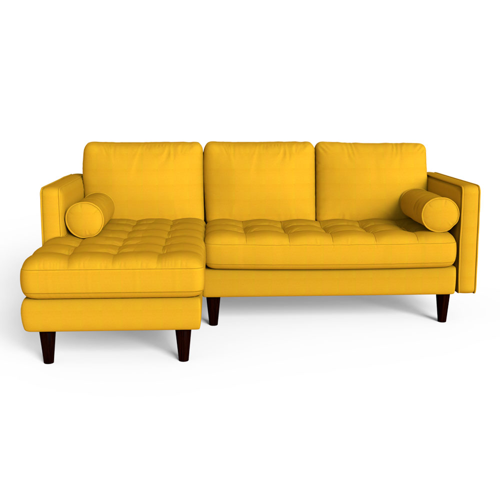 Canary Yellow Sectional Sofa