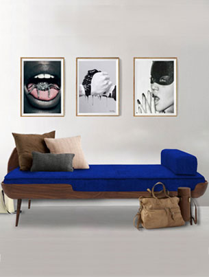 COLLAR SETTEE - ROYAL BLUE