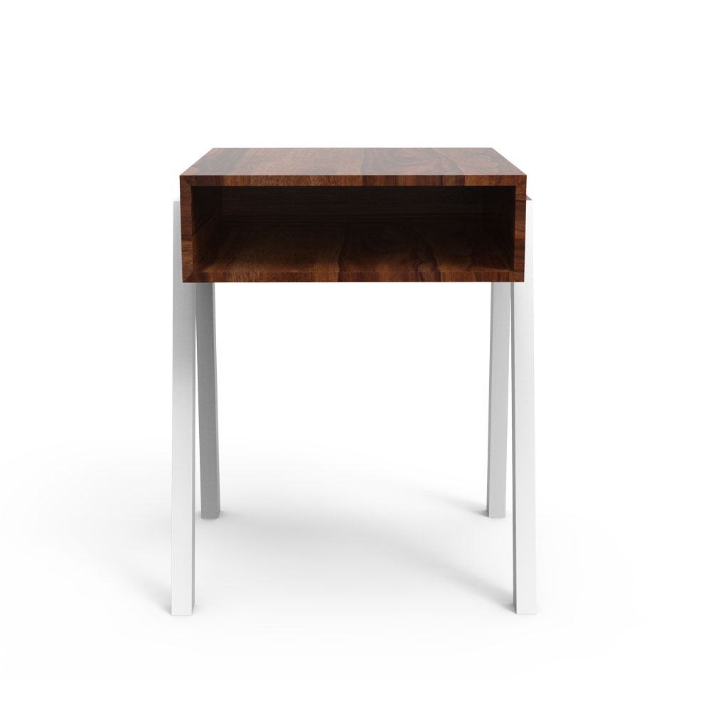 OGGY SIDE TABLE - CHERRY AND WHITE