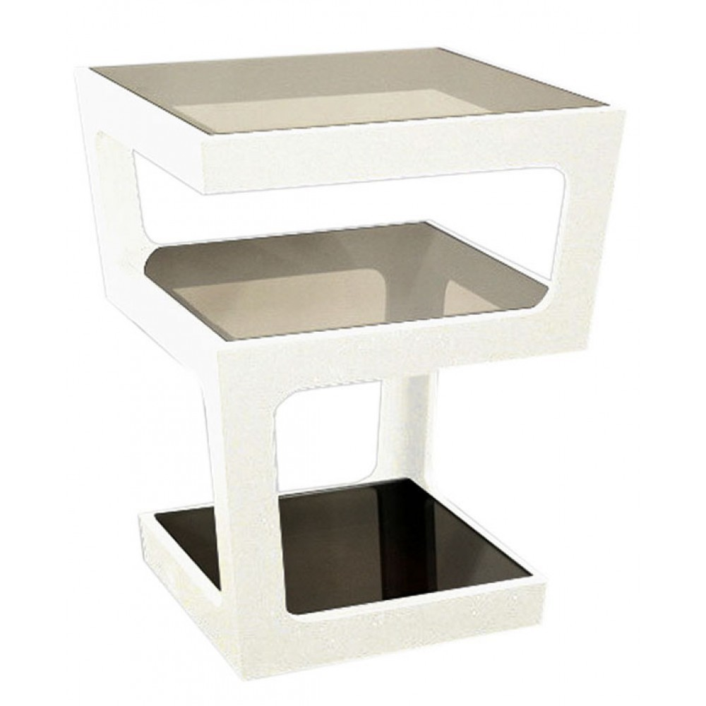 CHAMPAGNE SIDE TABLE - WHITE