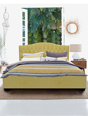 Winser Queen size Bed-Beige