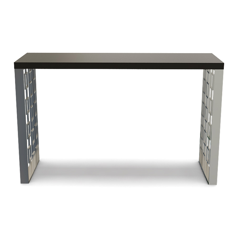 RF STAINLESS STEEL CONSOLE TABLE
