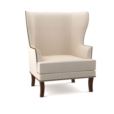 RAINFOREST ITALY ANTIQUE WING CHAIR