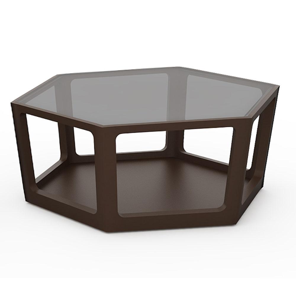 HEXAGON COFFEE TABLE - WENGE
