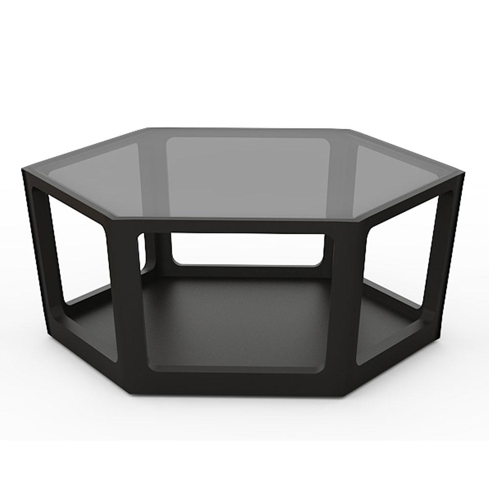 HEXAGON COFFEE TABLE - RAVEN BLACK