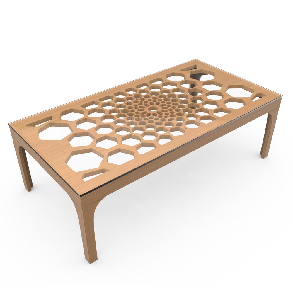 HONEYCOMB TABLE - EGGNOG NATURAL