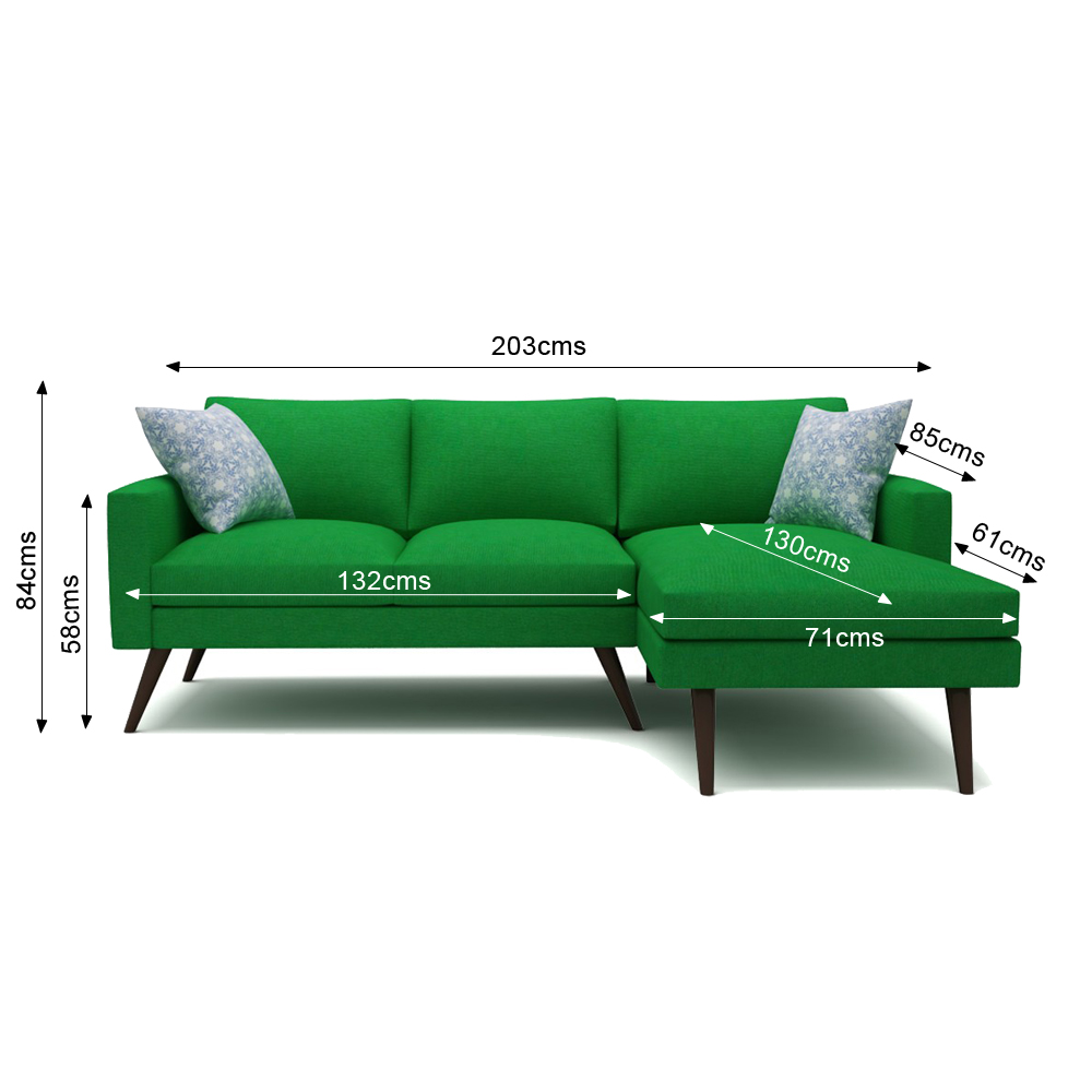 Dane Sectional Sofa - Forest Green