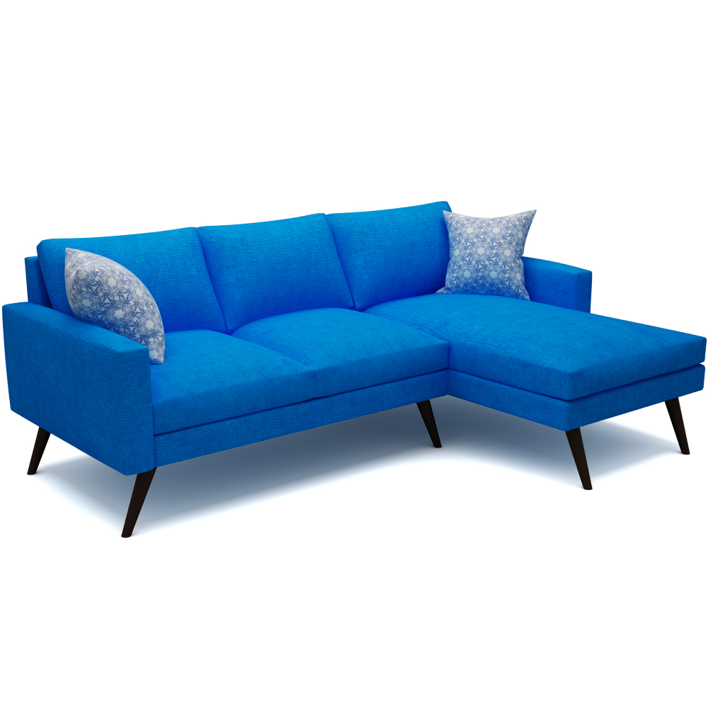 DANE SECTIONAL SOFA - AZURE BLUE