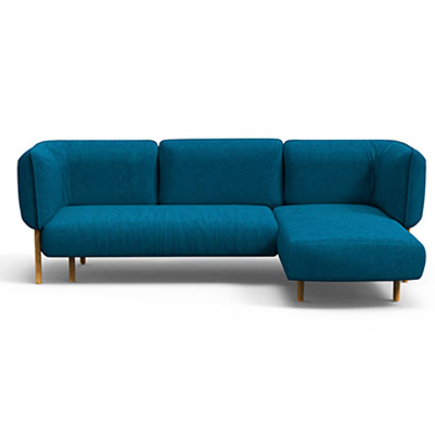 Bubbles Sectional  Sofa - Cerulean Blue