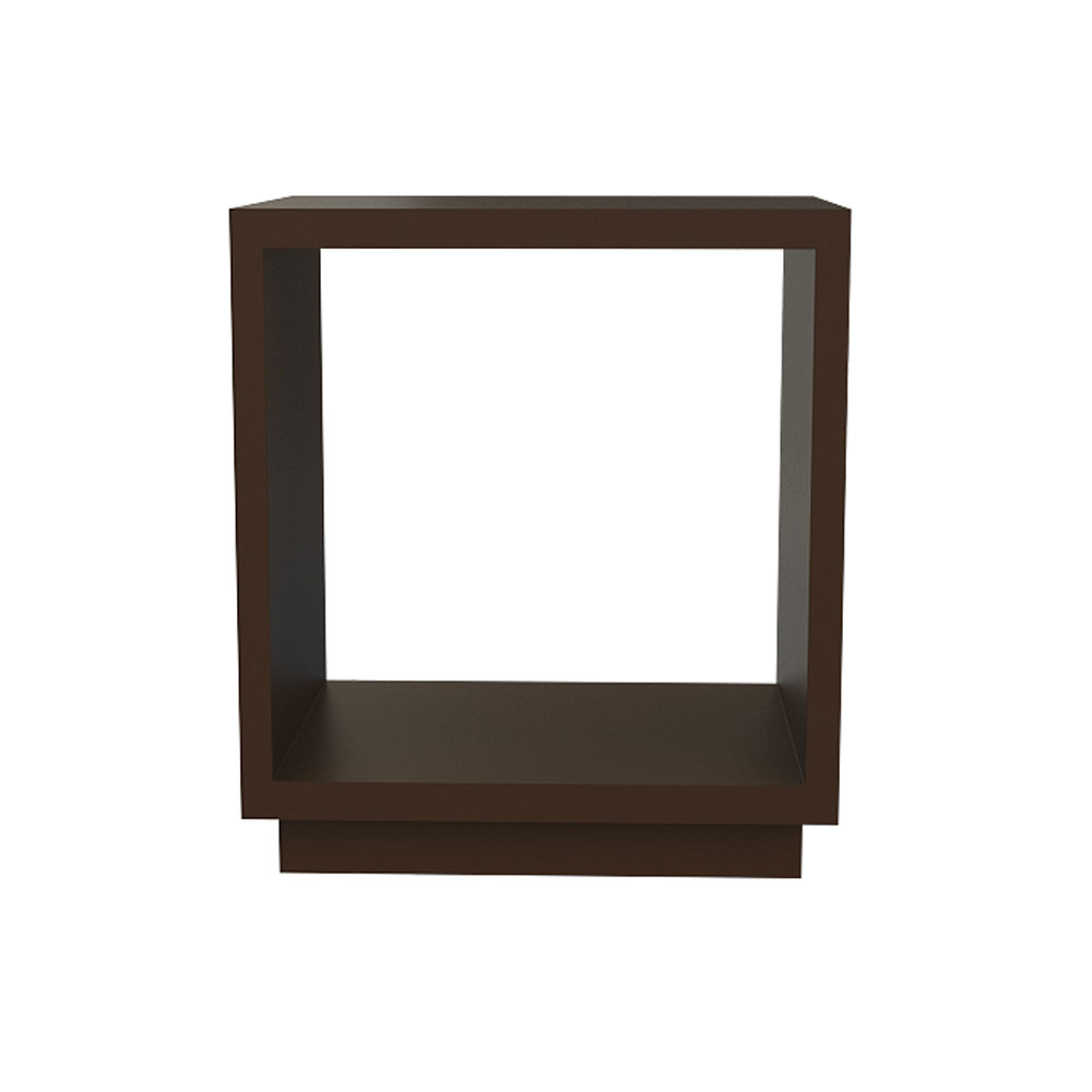 HOLLOW CUBE SIDE TABLE - WENGE
