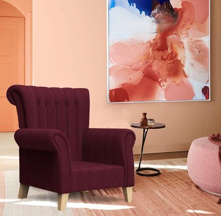 Brice Club Chair Boysenberry