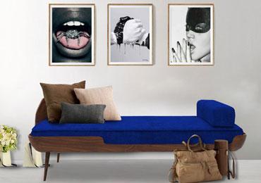 COLLAR SETTEE ROYAL BLUE