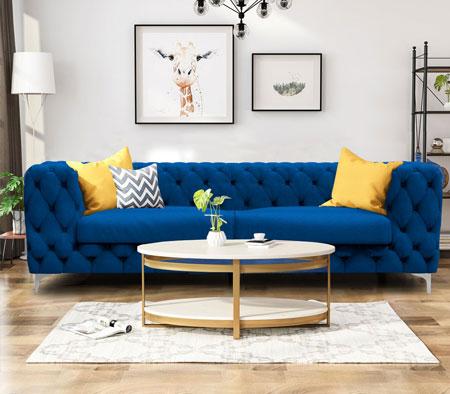 new sofa blue