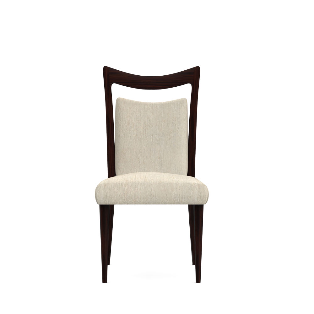 Crown back Dining chair-Beige