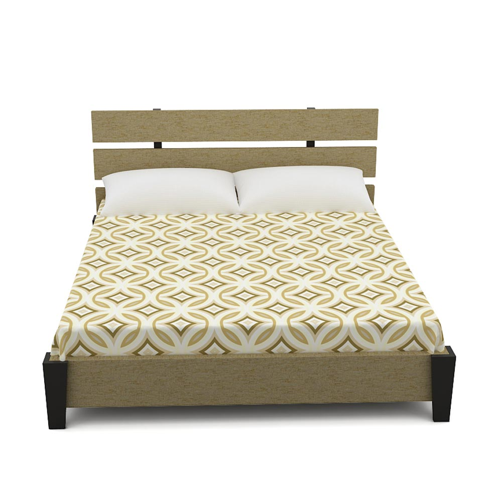 ZOE QUEEN SIZE BED - BEIGE