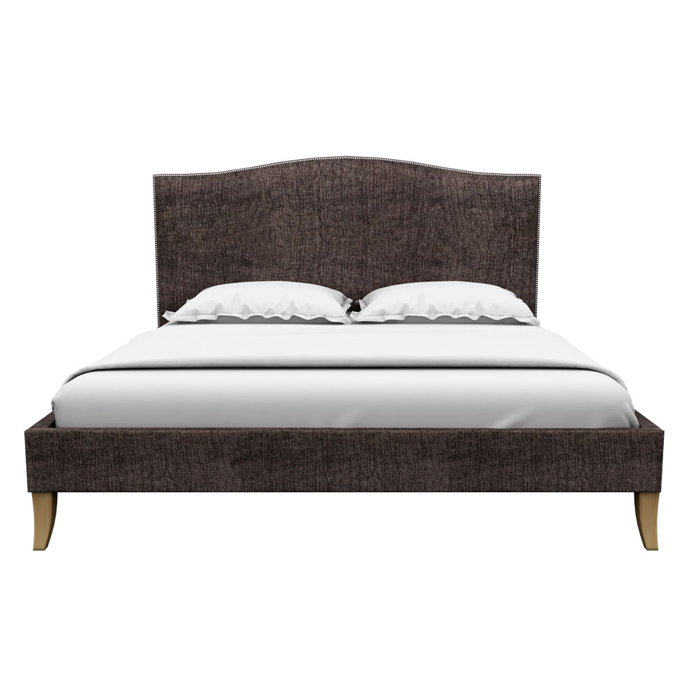 Pinup Queen size Bed-Grey